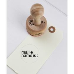 retro office stamp - maille name is