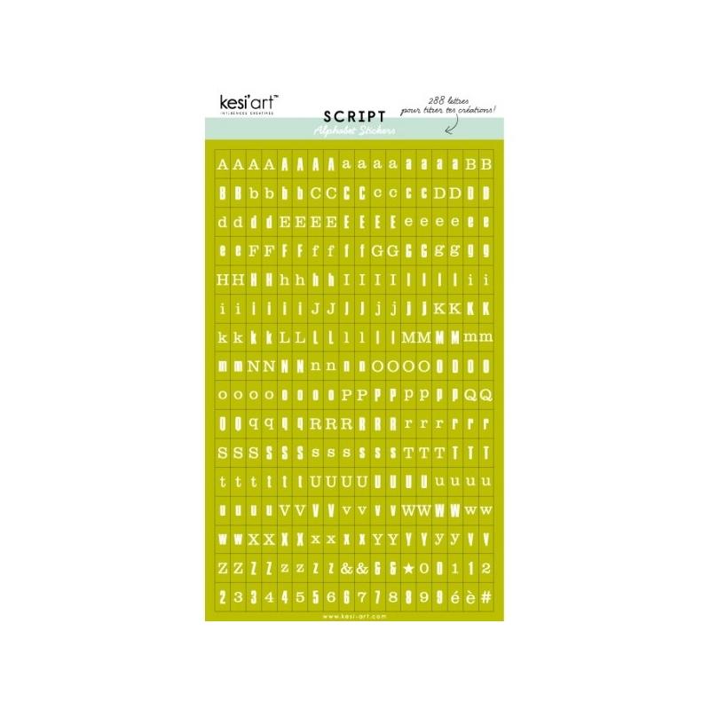 alphabet script