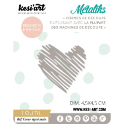 métaliks coeur signé main