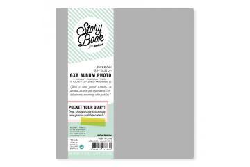 Album ring binder 6 x 8 - Gray