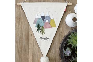 Bannière triangle à décorer