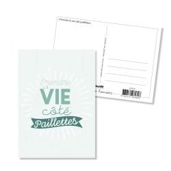 Carte postale - Prendre la vie côté paillettes