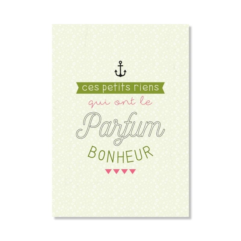 Carte postale - Le parfum du bonheur