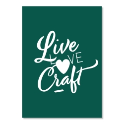 carte postale - live love craft