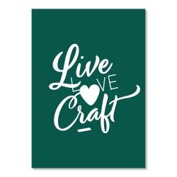 postcard - live love craft