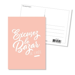 Carte postale - Excusez le bazar
