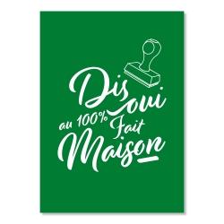 postcard - say yes to 100% homemade