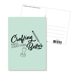 Carte postale - Crafting makes everything better