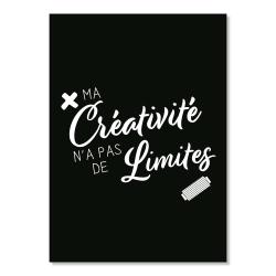 postcard - my creativity has no limits