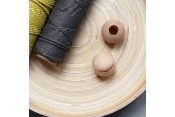 Perles en bois naturel 4 cm