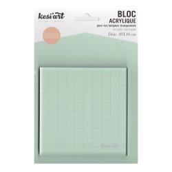 Acrylic block 10 x 10 cm