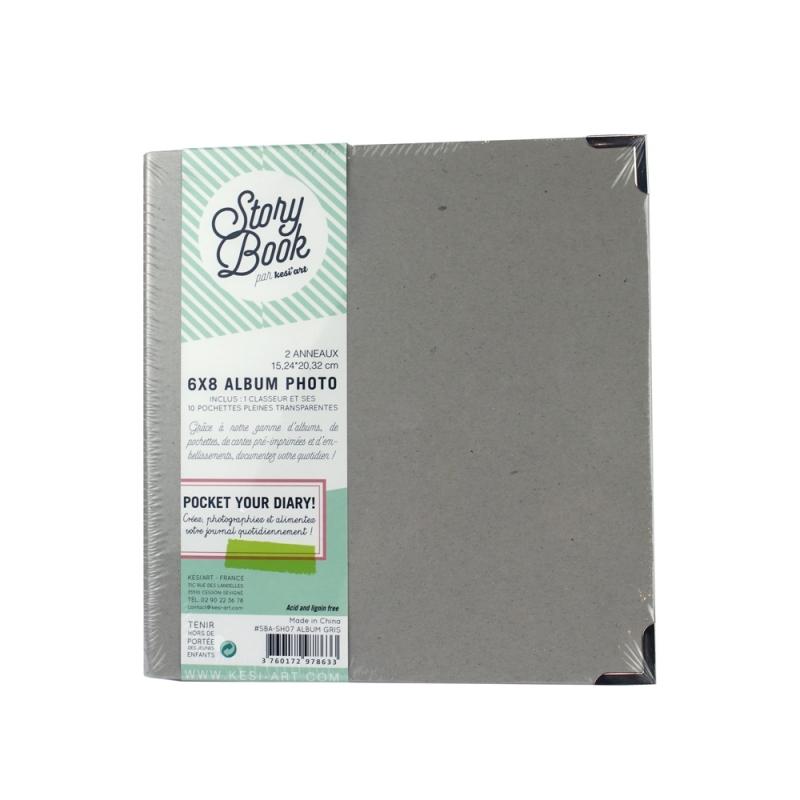 album classeur 6*8 - gris