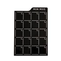 Pochoir d'écriture - Mon mois