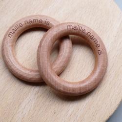 les anneaux en bois naturel - 5,5 cm