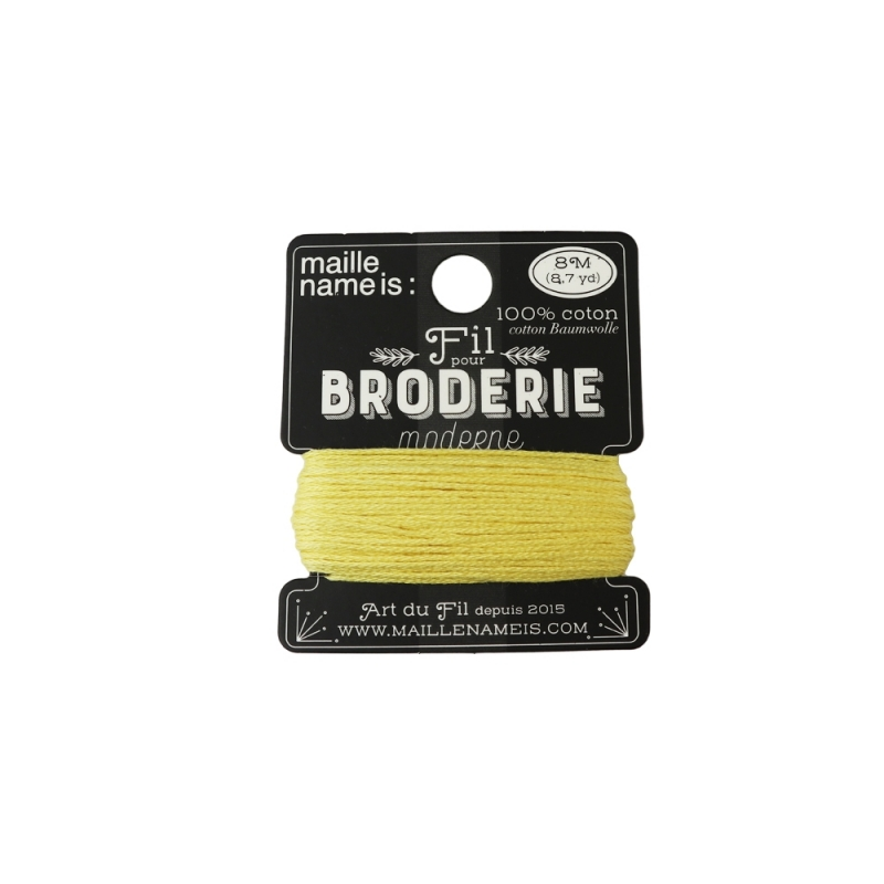 fil pour broderie moderne