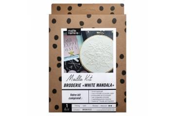 Maille Kit - Broderie White Mandala