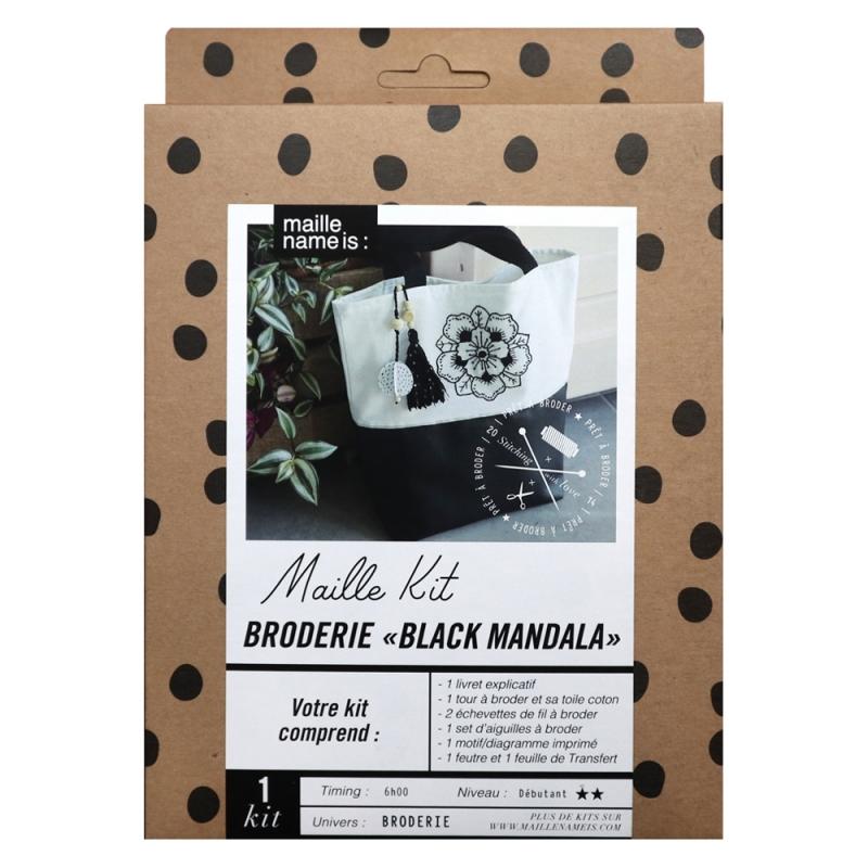 Maille Kit - Broderie Black Mandala