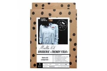 Kit de broderie - Trendy folk