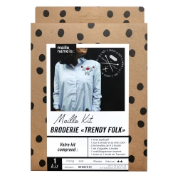 Kit de broderie - Trendy folk