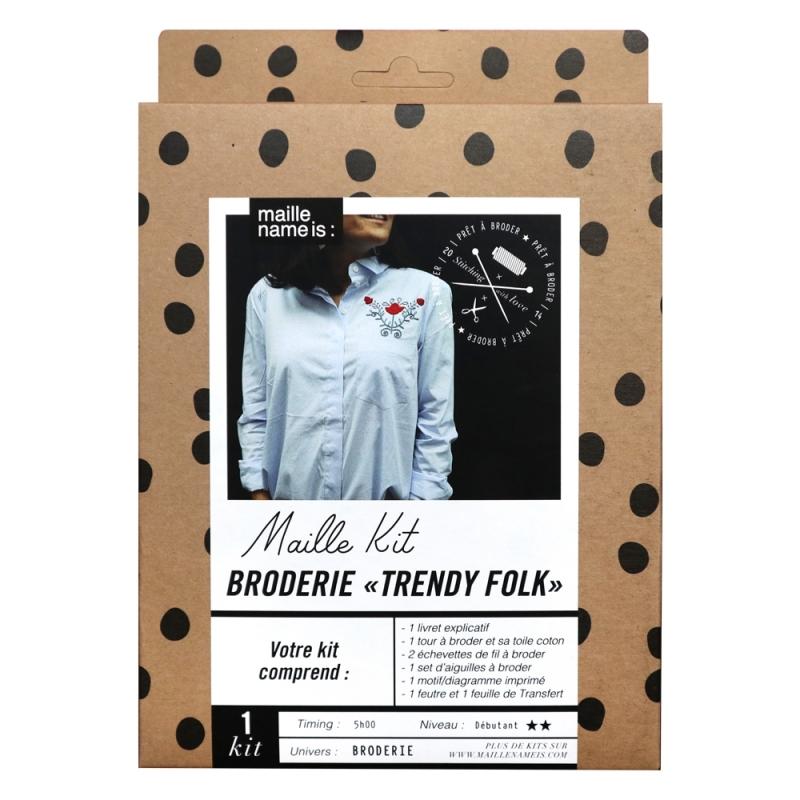 Maille Kit - Broderie Trendy Folk