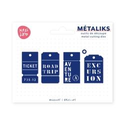 métaliks étiquettes cousues