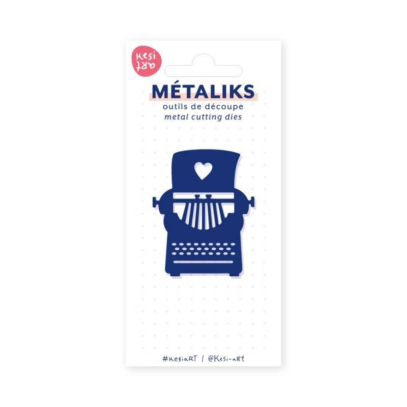 Dies métaliks - Machine à écrire