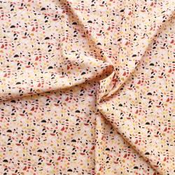 Tissu batiste coton imprimé - Métis flamant