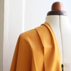 Plain dyed viscose fabric - Mustard