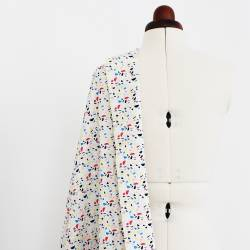 Printed batiste cotton fabric - Metis multi