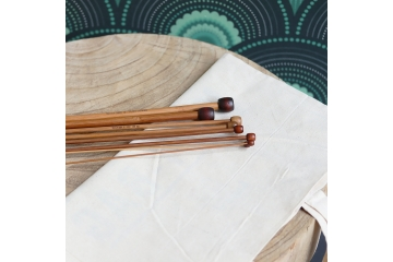Bamboo wood knitting needles
