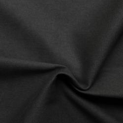 Plain dyed canvas cotton fabric - Black smoky
