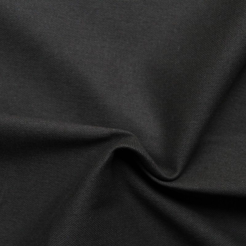 Plain dyed canvas cotton fabric - Black smoky