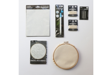 Embroidery kit - White mandala