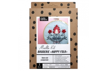 Kit de broderie - Happy folk