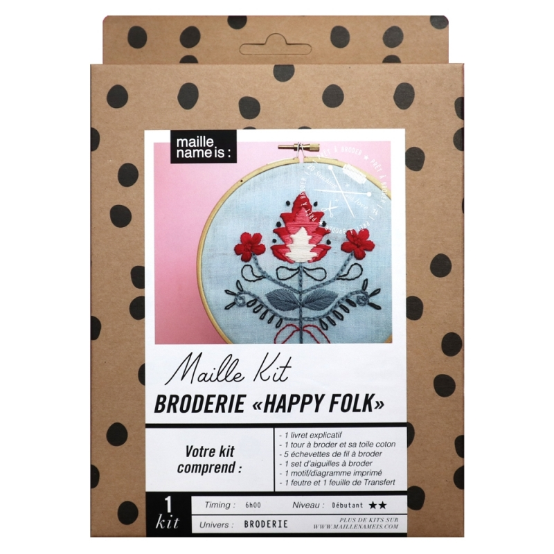 Embroidery kit - Happy folk