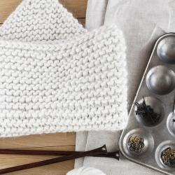 Snood cowl knitting pattern - Edouard