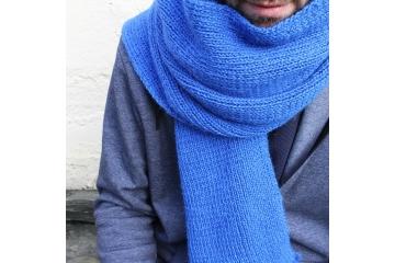Rib scarf knitting pattern - Oscar