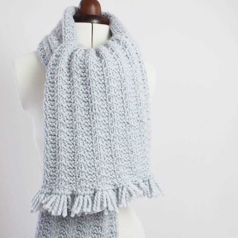 210dffd90c8b2 Patron tricot écharpe Charlie motif chevrons à télécharger - Kesi'Art