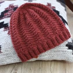 Chevrons hat knitting pattern - Louis