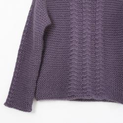 Chevrons sweater knitting pattern - Aimé