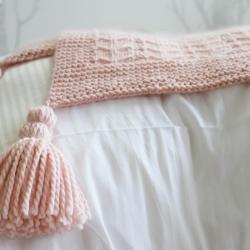 Chevrons blanket knitting pattern -  Claude