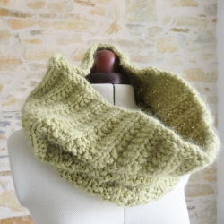 Snood cowl knitting pattern - Toussaint