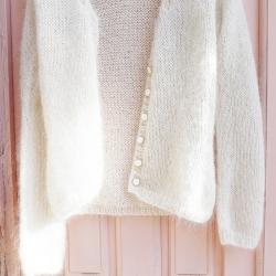 Mohair vest knitting...