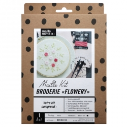 Embroidery kit - Flowery