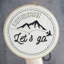 Embroidery kit - Let's go