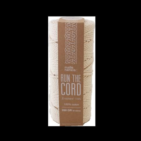 Fil coton pour macramé 3 mm - Blanc naturel