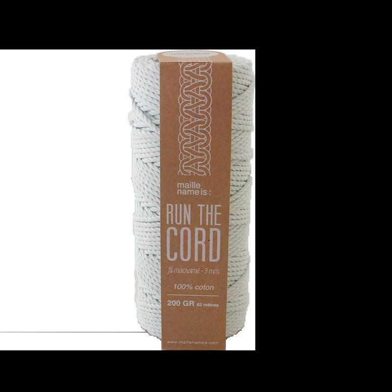 Fil coton pour macramé 3 mm - Voile de brume