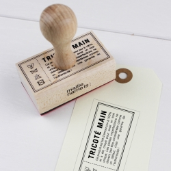 Retro office stamp - Hand knit