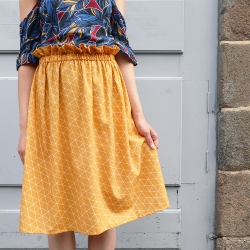 Hand sewed elastic skirt
