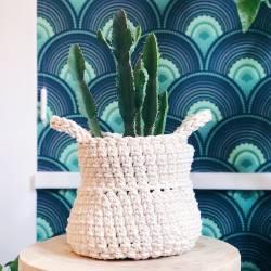 Thai crochet basket